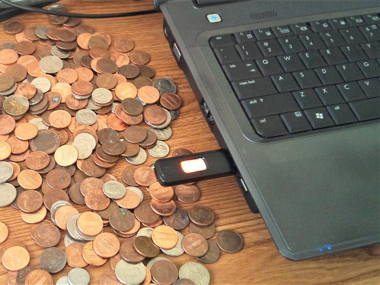 Centavos, Monedas, Computadora, Dinero, Internet
